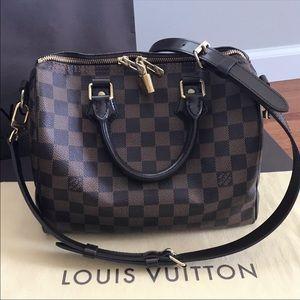 Louis Vuitton Damier Ebene Bandouliere Speedy 25